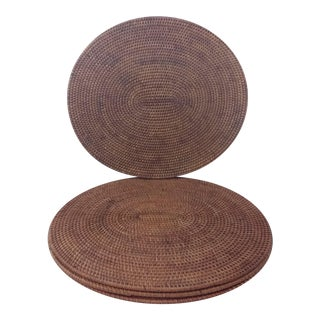 Oval Rattan Placemats - Set of 4