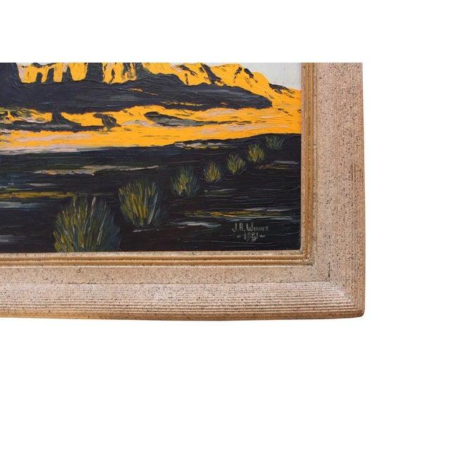 Vintage Modern Impressionist Oil Painting 1950s - Image 4 of 4