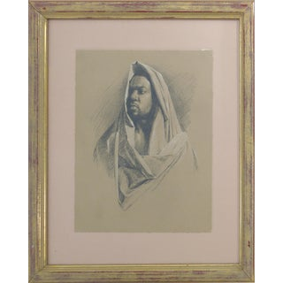 David Eugene Henry Moroccan Man Drawing