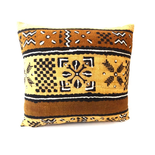 African Mud Cloth Pillow - Image 5 of 8
