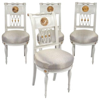 French Directoire Period Side Chairs- Set of 4