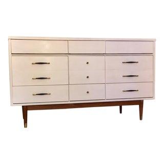 Mid-Century White Dresser