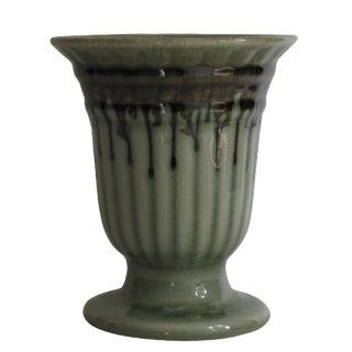 Ridged Celadon Urn