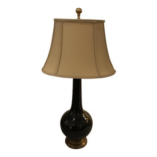 Black and Brass Porcelain Lamp