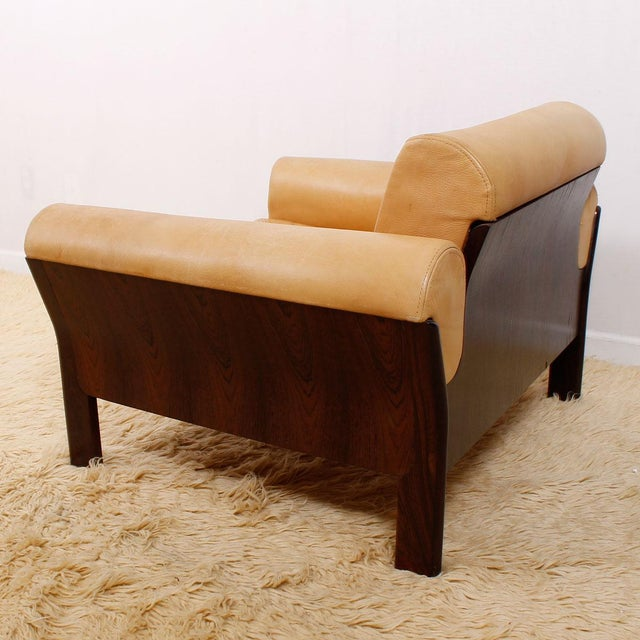 Image of Rare Rosewood & Leather Chair by Komfort, Denmark