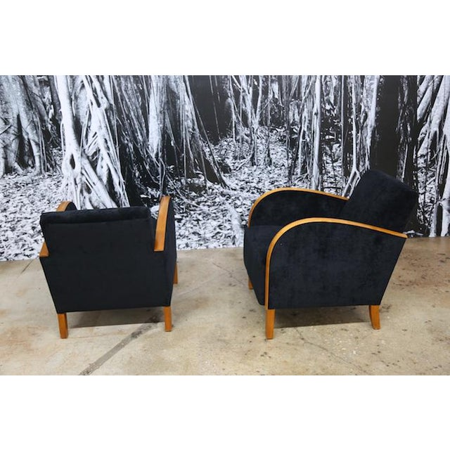 Scandinavian Art Deco Club Chairs- A Pair - Image 4 of 5