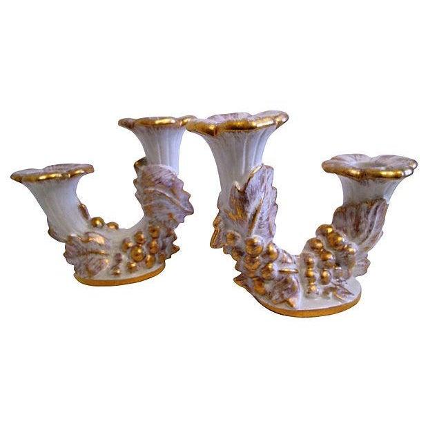 Image of Mid-Century Royal Haeger Gold Centerpiece Set - Set of 3