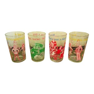 Vintage Archie & Veronica Glasses - Set of 4