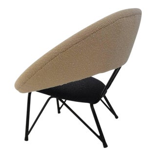 """Beautiful 1950s Italian """"saturno"""" Lounge Chair in the Style of Dangles Defrance"""
