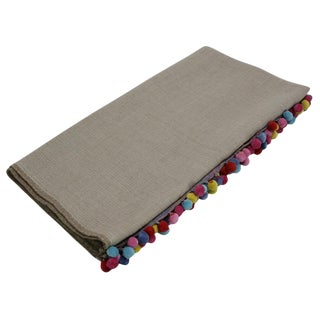 Beige Jammu Throw Blanket