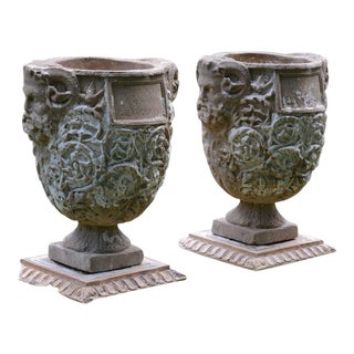 Ovoid Planters with Masks