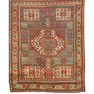 Antique 19th Century Caucasian Karachoph Kazak Rug