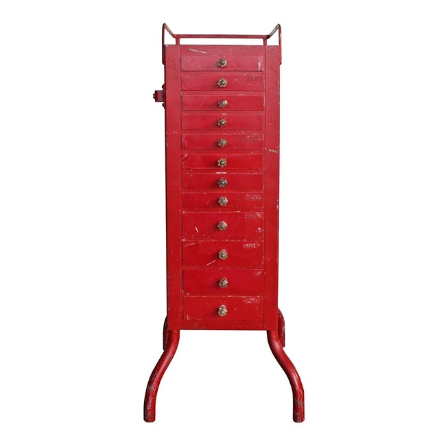 Antique Red Dental Cabinet - Image 1 of 5