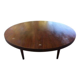 Vintage Mid-Century American of Martinsville Round Wood Coffee Table