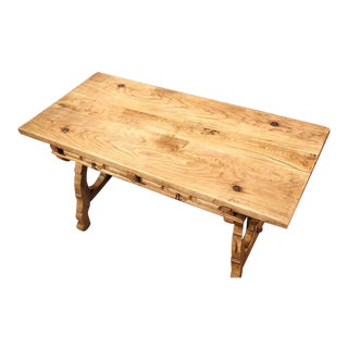 19th Century Spanish Bleached Chestnut Table