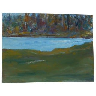 Abstract Impressionist Painting by h.l. Musgrave