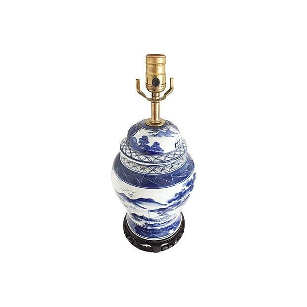 Blue & White Pagoda Ginger Jar Lamp - Image 2 of 5