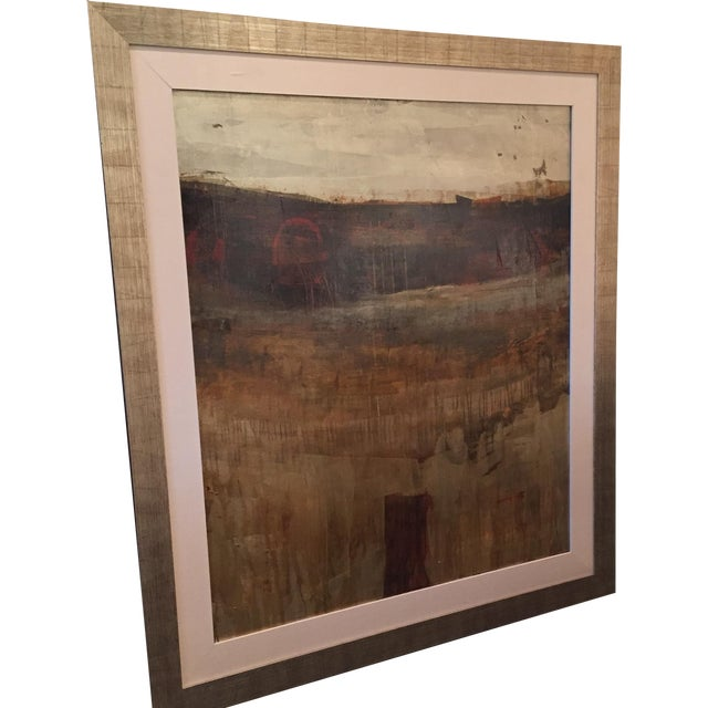 Image of Framed Large Abstract Giclee Painting