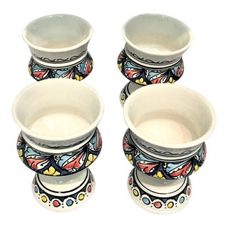 Atlas Hand Painted Cups - Set of 4