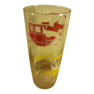 Vintage Car Drinking Glass