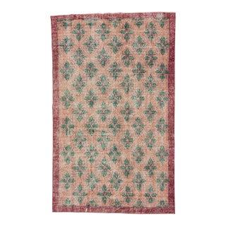 Vintage Turkish Floral Rug - 5′2″ × 8′6″