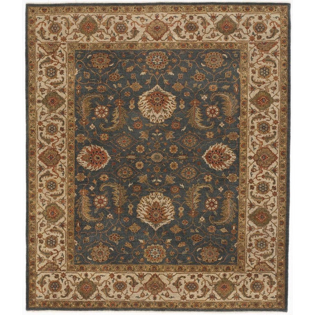 """Hand-Knotted Indo-Persian Rug- 8'1""""x 9'5"""" - Image 1 of 2"""