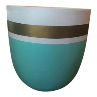 Turqoise & Gold Planter