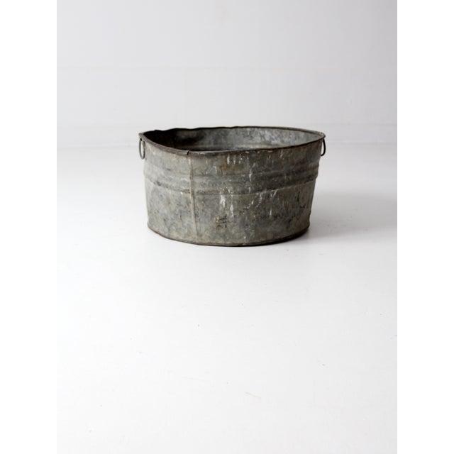 Vintage Galvanized Tub Basin - Image 3 of 8