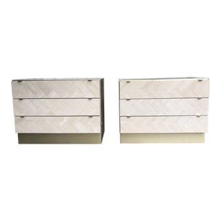 Ello Travertine & Brass Chests of Drawers