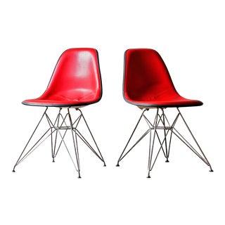 Eames Herman Miller Eiffel Base Shell Chairs - A Pair
