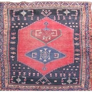 Very Rare Design Mid-20th C. Vintage Persian Qoltoq-Bidjar Rug - 4″ × 7″