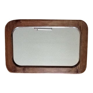 Vintage Mission Style Wood Wall Mirror