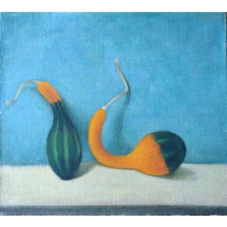Still Life With Gourds Oil Painting
