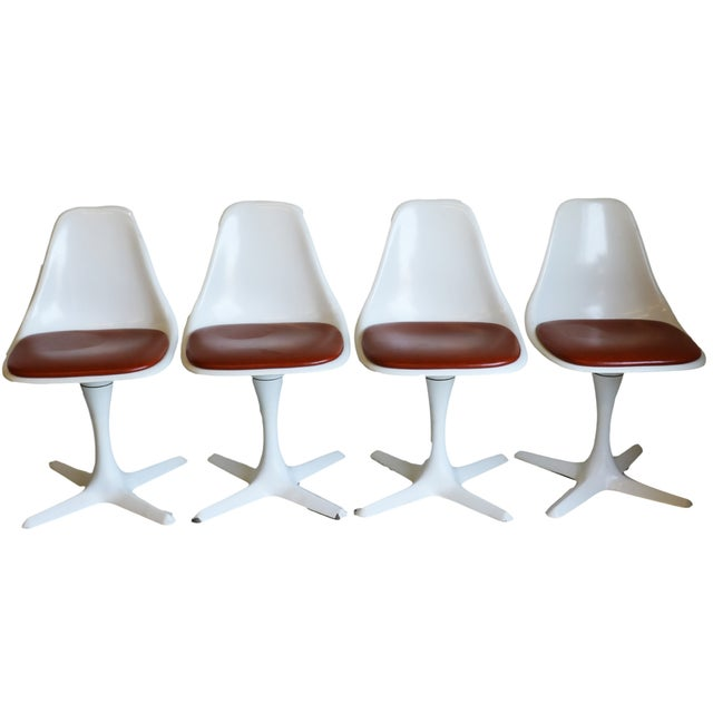 Mid-Century Modern Burke Tulip Chairs - Set of 4 - Image 2 of 9
