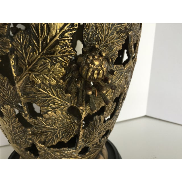 Image of Mid-Century Brass Chinoiserie Lamp