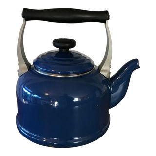 Le Creuset Enameled Blue Tea Kettle