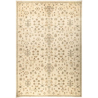 """Eclectic Hand Knotted Area Rug - 10'2"""" x 13'10"""""""