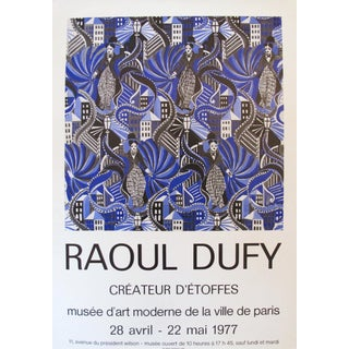 1977 Original Raoul Dufy Charlie Chaplin Exhibition Poster