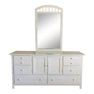 Stanley Contemporary White Painted Dresser