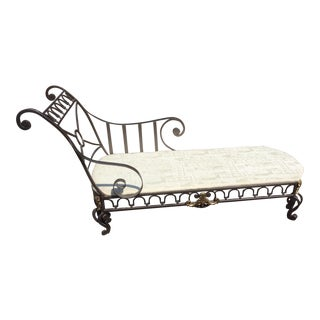 French Recamier Campaign Style Chaise
