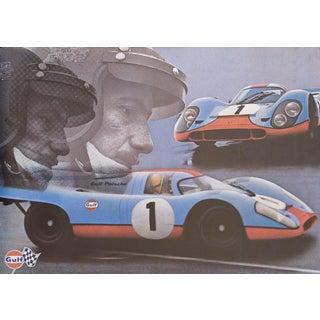 Gulf-Porsche 1971 Vintage Swiss Auto-Racing Poster