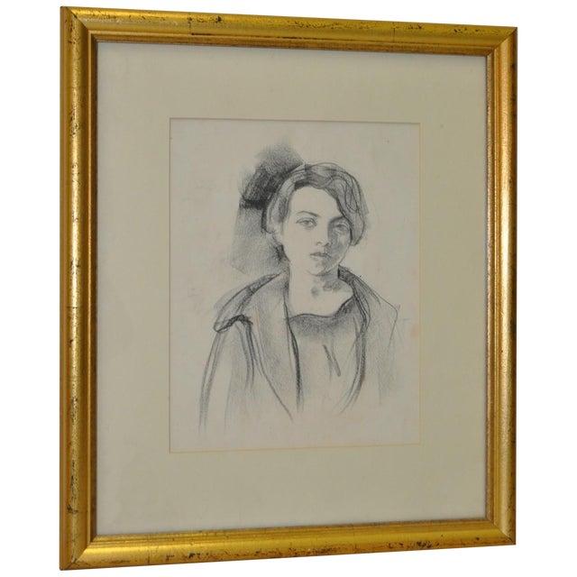 Ralph Stackpole Original Portrait Drawing c.1927 - Image 1 of 4