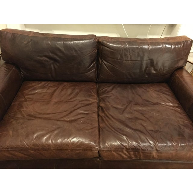 Restoration Hardware Leather : Restoration hardware maxwell leather sofa chairish