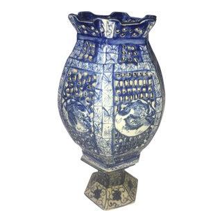 Blue & White Porcelain Hurricane Lamp