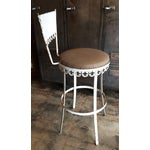 Image of Vintage French Flor De Lys Metal Stools - A Pair