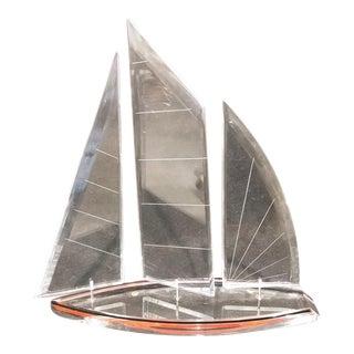 Mid-Century Lucite Sailboat