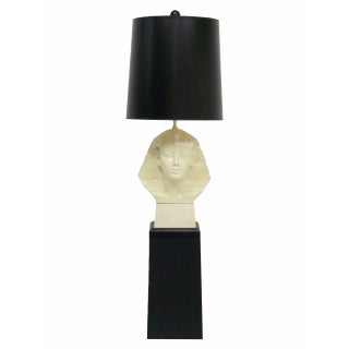 Paul Hansen Egyptian Pharaoh Table Lamp & Pedestal