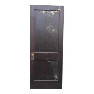 Vintage Brown 2 Panel Weathered Wood Door