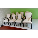 Image of White Suede Deco Dining Chairs - Set of 8