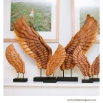 Image of Wooden Décor Wings I, Pair